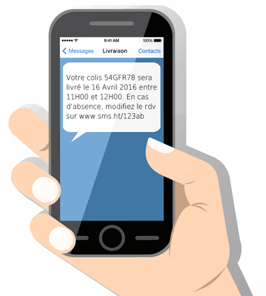 Exemple de message SMS par SMS Lowcost